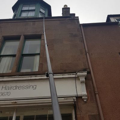 high reach window cleaning Aberdeen and Aberdeenshire by Blue Wave